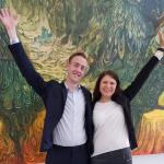 Oscar Jonsson och Caroline Hägglund