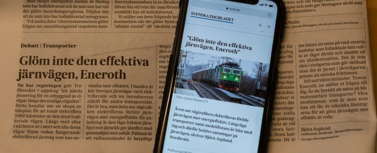 Swedtrain debatterar elvägar i svd